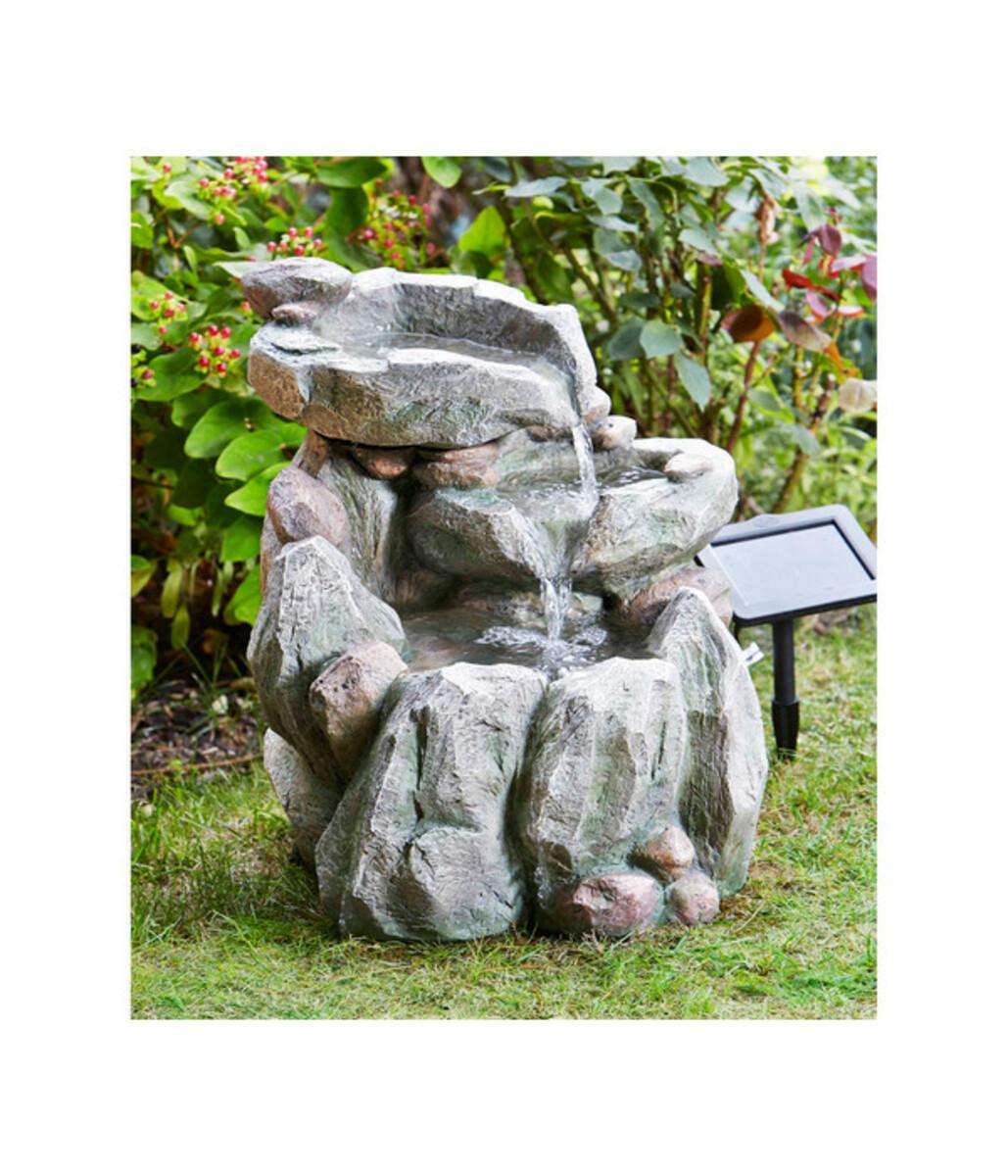 Bild 3 von Polyresin-Gartenbrunnen Felsbecken mit Solar, 51 x 54 x 51 cm