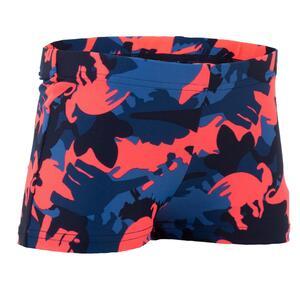 Badehose Boxer Baby Jungen Print Dino blau/rot
