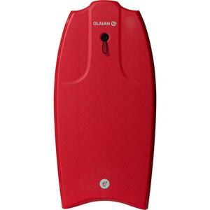 Bodyboard 100 42 rot für Größe 1,651,85 m mit Slick (Gleitfläche) und Leash