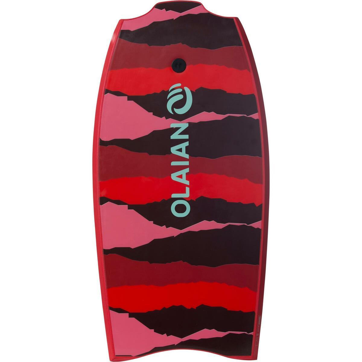 Bild 2 von Bodyboard 100 42 rot für Größe 1,651,85 m mit Slick (Gleitfläche) und Leash