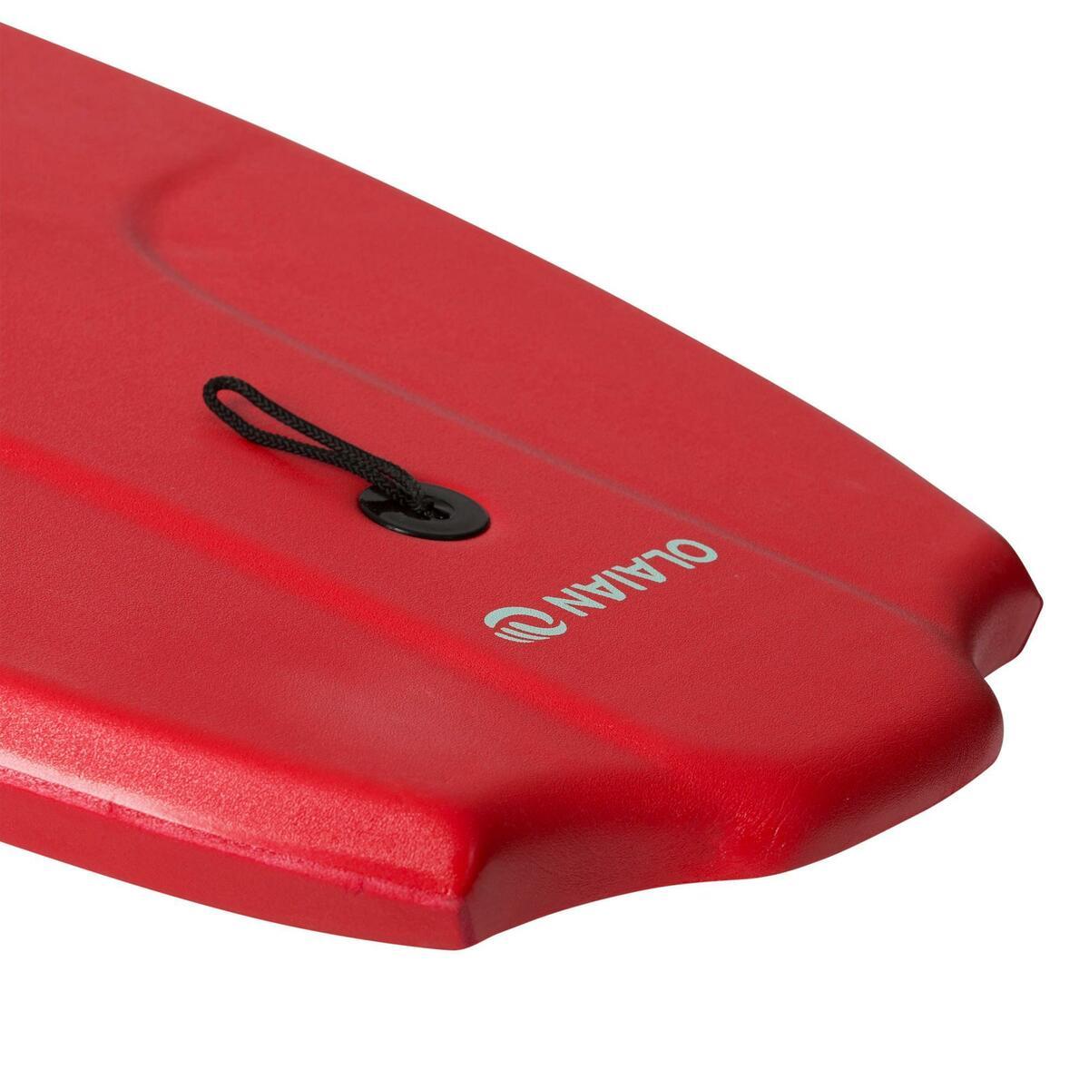 Bild 4 von Bodyboard 100 42 rot für Größe 1,651,85 m mit Slick (Gleitfläche) und Leash