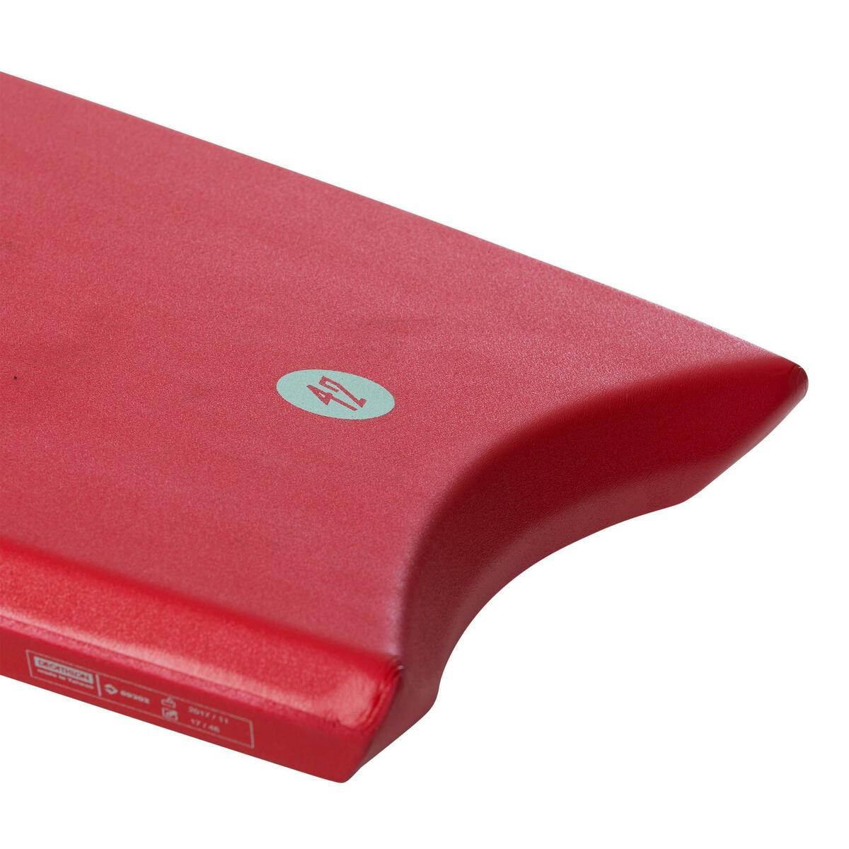 Bild 5 von Bodyboard 100 42 rot für Größe 1,651,85 m mit Slick (Gleitfläche) und Leash