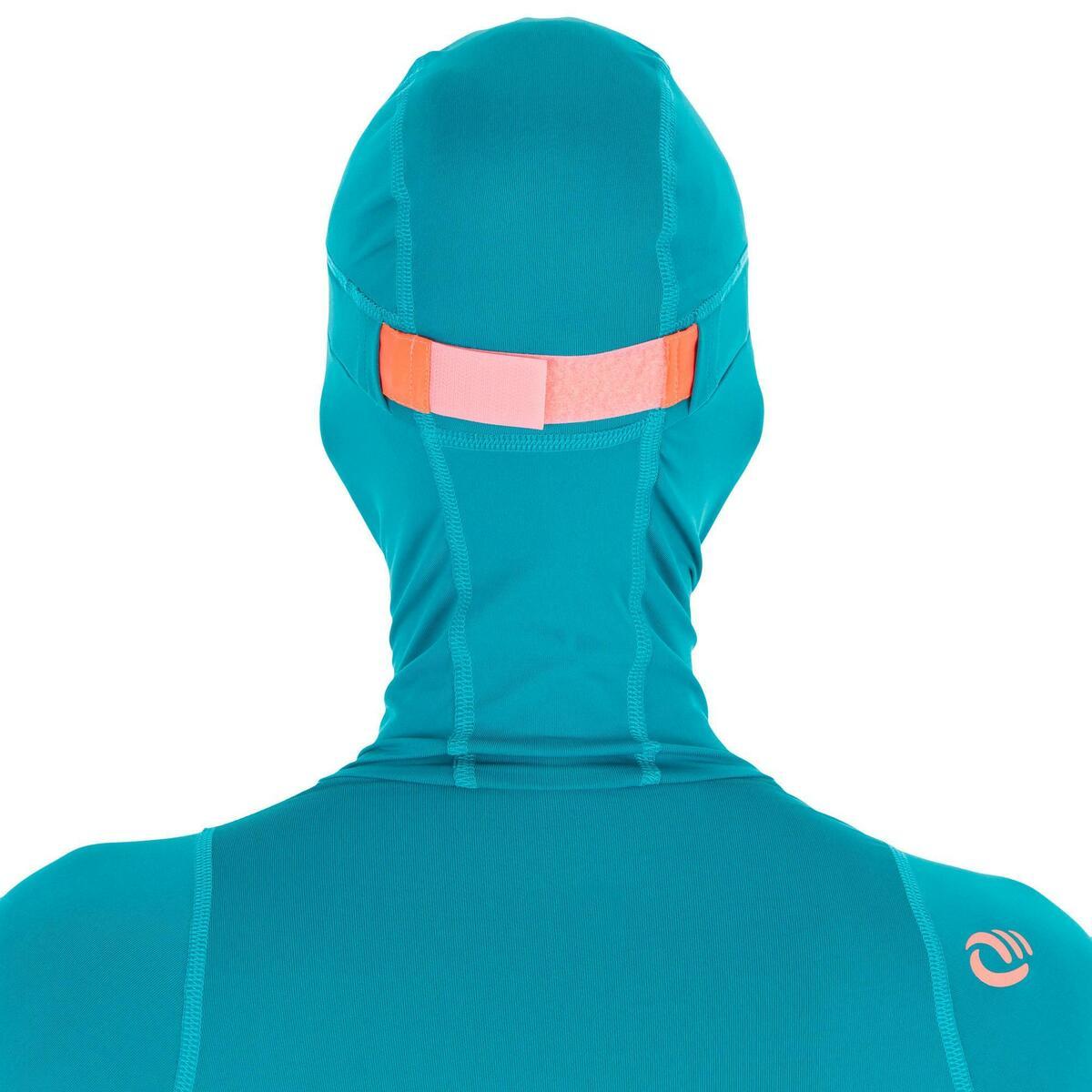 Bild 4 von UV-Shirt Surfen Top 500 mit Kapuze Damen blau/grün