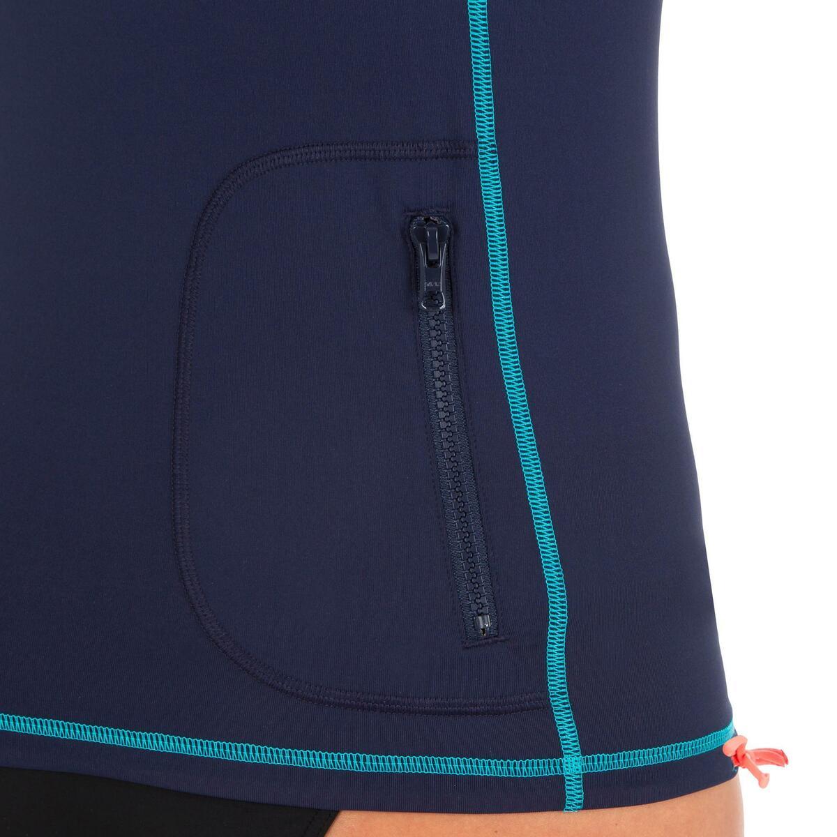 Bild 5 von UV-Shirt Surfen Top 500 mit Kapuze Damen blau/grün