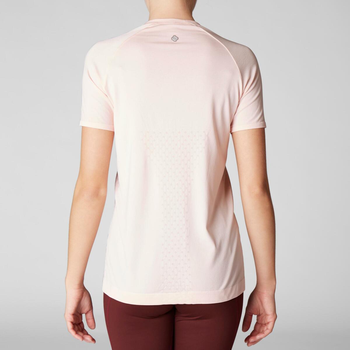 Bild 4 von T-Shirt dynamisches Yoga nahtlos Damen rosa