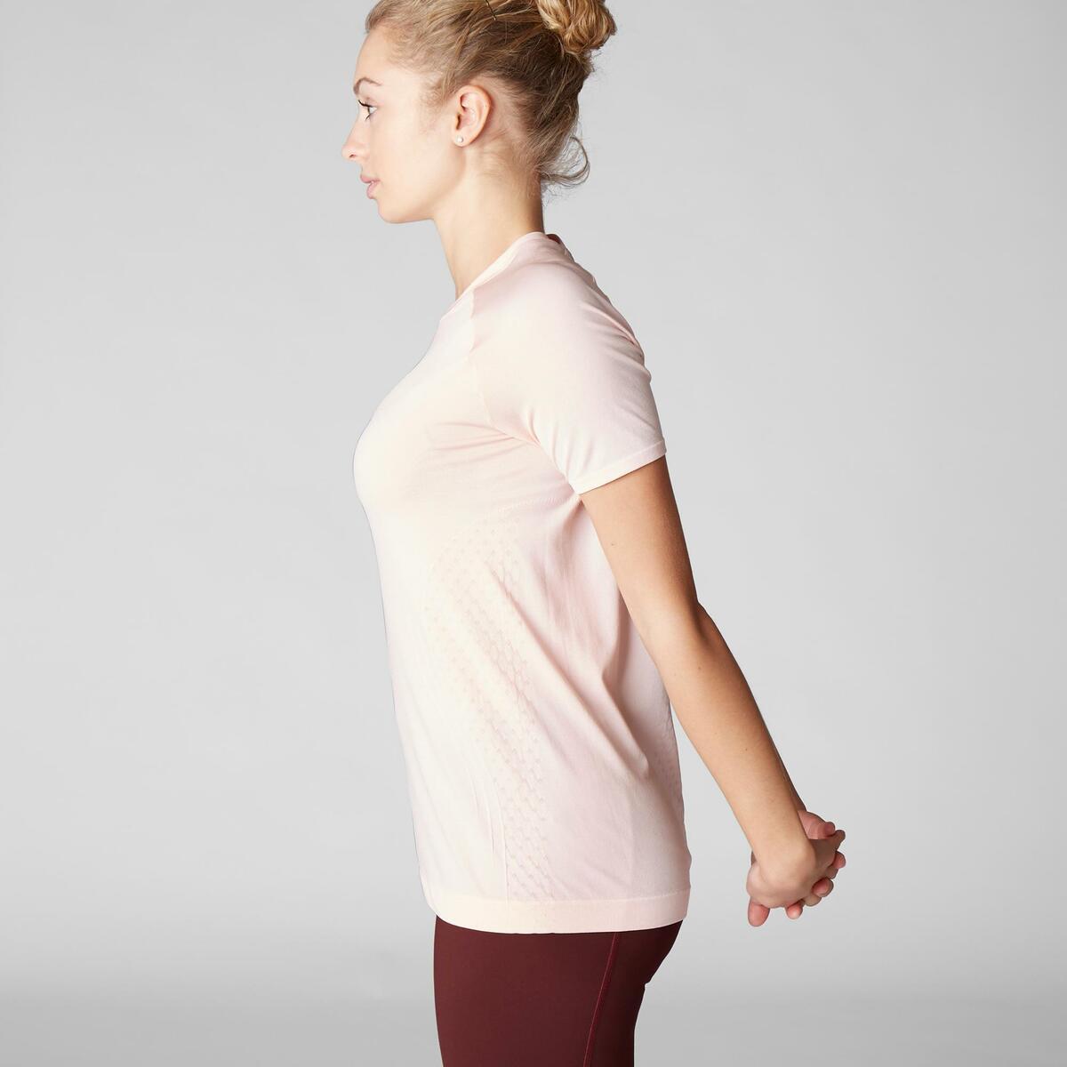 Bild 5 von T-Shirt dynamisches Yoga nahtlos Damen rosa