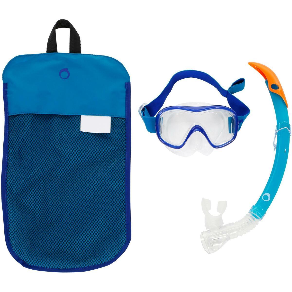 Bild 1 von Schnorchel-Set Freediving FRD120 Erwachsene türkisblau
