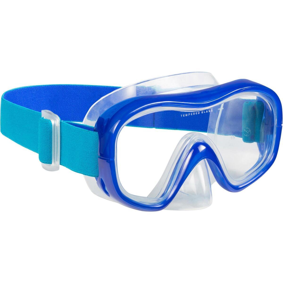 Bild 2 von Schnorchel-Set Freediving FRD120 Erwachsene türkisblau