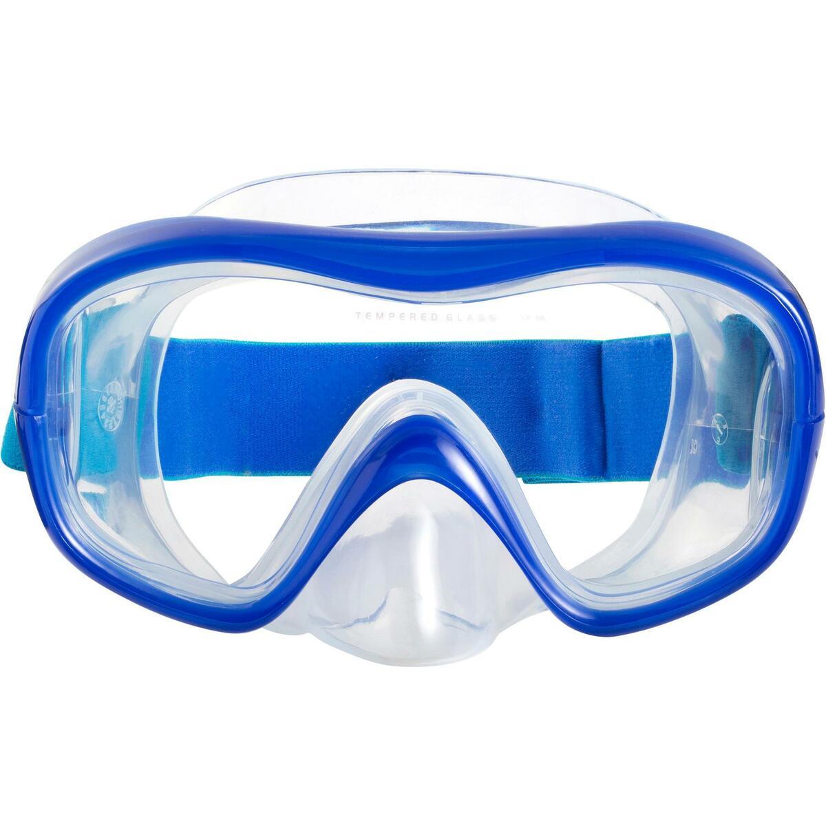 Bild 3 von Schnorchel-Set Freediving FRD120 Erwachsene türkisblau