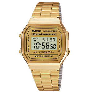 "CASIO             Armbanduhr ""Collection Retro"" A168WG-9EF, Chronograph"