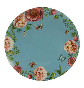 "CreaTable             Speiseteller ""Enjoy Roses"", blau, 28 cm"