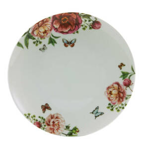 "CreaTable             Dessertteller ""Enjoy Roses"", weiß, 22 cm"