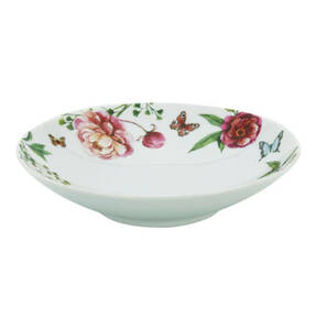 "CreaTable             Suppenteller ""Enjoy Roses"", weiß, 20,5 cm"