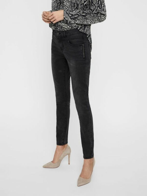 REGULAR WAIST SLIM FIT JEANS