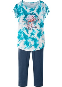 Fransen-Shirt + 3/4-Leggings