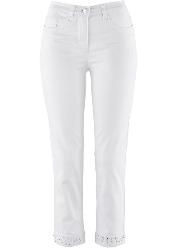 Stretch-7/8-Jeans mit Stickerei