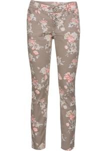 Florale Skinny-Hose