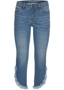 Verkürzte Slim-Jeans mit Fransen