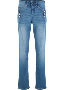 Authentik-Stretch-Jeans, mit Knöpfen, STRAIGHT