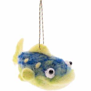 Filz-Fisch zum Hängen blau-grün 13cm