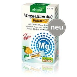 Alsiroyal  Magnesium 400 DIREKT Orange 20 Sticks