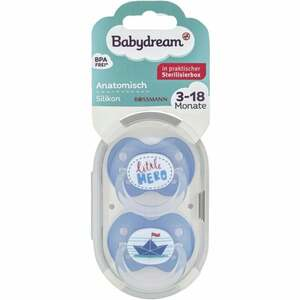 Babydream BS anatomisch Silikon 3-18 Monate little Hero/Papierschiff
