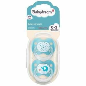 Babydream BS anatomisch Silikon 0-3 Monate Elefant/Sterne