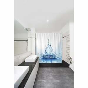IDEENWELT Textiler Duschvorhang Wassertropfen