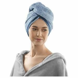 IDEENWELT Kopfhandtuch blau