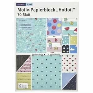 """IDEENWELT Motiv-Papierblock """"Hotfoil´´"""