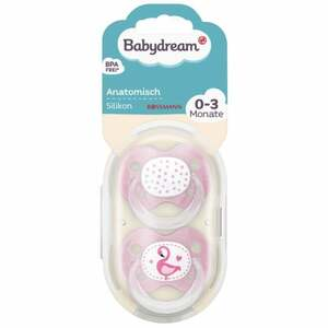 Babydream BS anatomisch Silikon 0-3 Monate Sterne/Flamingo