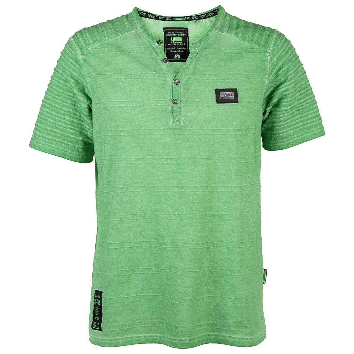 Bild 1 von Herren T-Shirt mit Knopfleiste