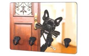 HARDi - Schlüsselboard Hund in bunt/schwarz