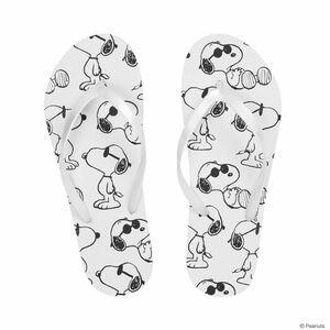 Butlers Peanuts Zehentrenner Snoopy Sonnenbrille 39/40 schwarz-weiss
