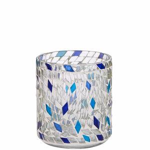 Butlers Pearly Beach Teelichtglas Höhe 8 cm blau