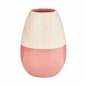 Butlers Pastello Keramik Vase Höhe 19,5 cm hellrot