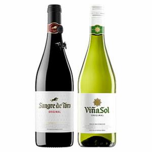 Spanien Torres Sangre de Toro oder Vina Sol trocken,  jede 0,75-l-Flasche