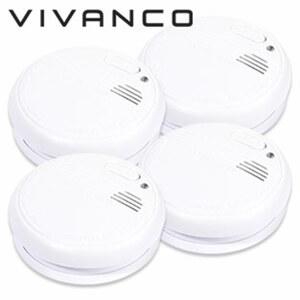 4er-Pack Rauch-Warnmelder SD 3-N SET • netzunabhängig • Batteriebetrieb • Testknopf für regelmäßige Funktionsprüfung • inkl. Batterien