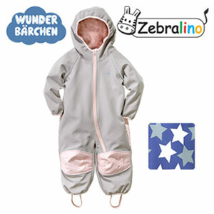 Baby-Softshell-Overall Größe: 62/68 - 98/104