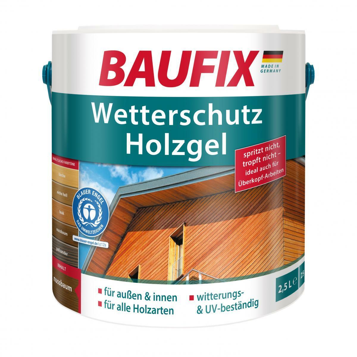 Bild 1 von BAUFIX Wetterschutz-Holzgel graphitgrau