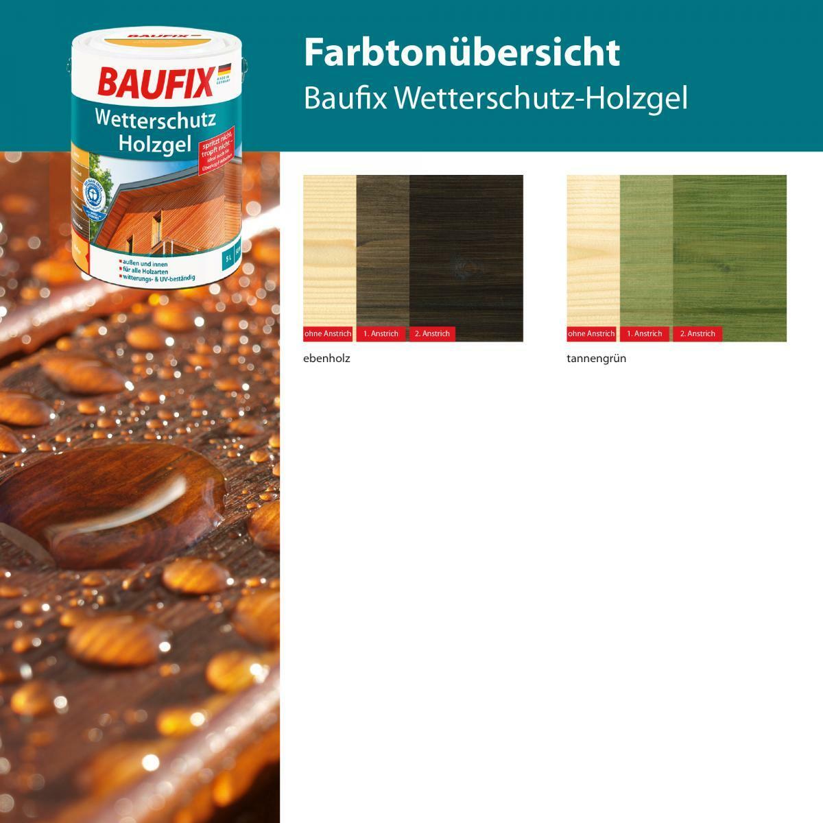 Bild 4 von BAUFIX Wetterschutz-Holzgel graphitgrau
