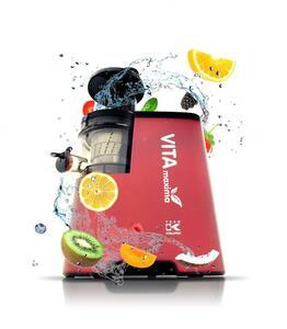 Kalorik Slow-Juicer TKG FE 1010 R Entsafter Metallic-Rot