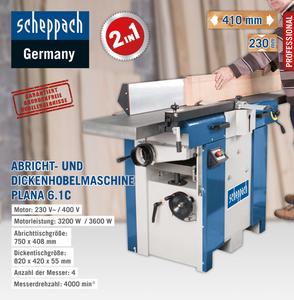 Scheppach Abricht-Dickenhobel Plana 6.1c 230V/50Hz 3.2 kW
