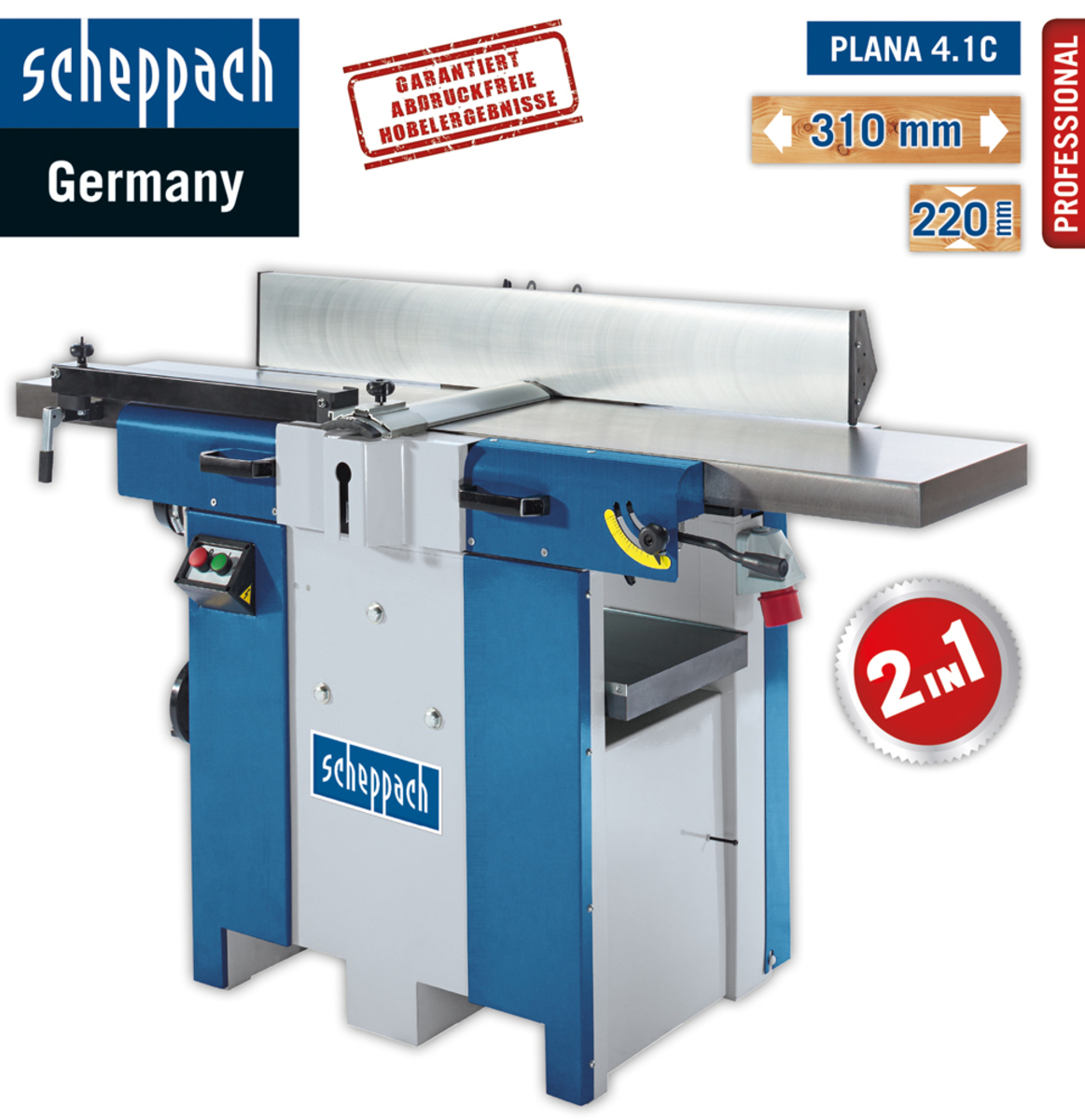 Bild 1 von Scheppach Abricht-Dickenhobel Plana 4.1c 230V/50Hz 2.5 kW