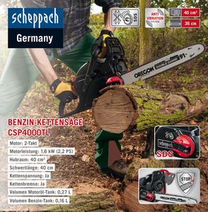 Scheppach Benzinkettensäge CSP4000TL