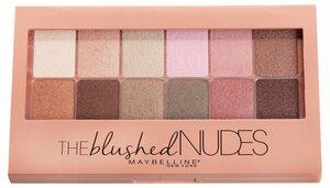 MAYBELLINE NEW YORK Lidschatten-Palette »The Blushed Nudes«, 2-in-1 Applikator