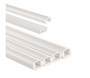 Hama PVC Kabelschacht, zum Verstecken von 2 Kabeln »4 Stück à 1,1x100 cm, halbrund«