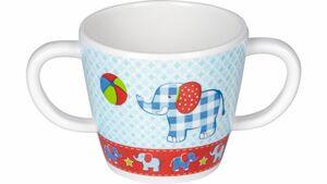 Die Spiegelburg - Melamin-Tasse mit 2 Henkeln Elefant BabyGlück