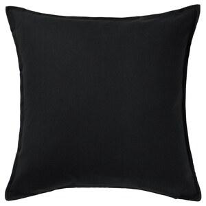 GURLI                                Kissenbezug, schwarz, 65x65 cm