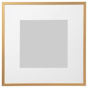LOMVIKEN                                Rahmen, goldfarben, 32x32 cm